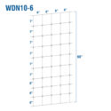 WDN10-6 - Fixed-Knot Woven Wire, 10/60/6, 12½ Ga