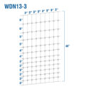 WDN13-3 - Fixed-Knot Woven Wire, 13/48/3, 12½ Ga