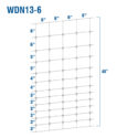 WDN13-6 - Fixed-Knot Woven Wire, 13/48/6, 12½ Ga