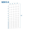 WDN15-6 - Fixed-Knot Woven Wire, 15/61/6, 12½ Ga