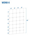 WDN8-6 - Fixed-Knot Woven Wire, 8/42/6, 12½ Ga