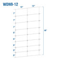 WDN9-12 - Fixed-Knot Woven Wire, 9/49/12, 12½ Ga