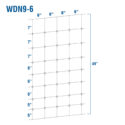WDN9-6 - Fixed-Knot Woven Wire, 9/49/6, 12½ Ga