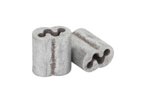 Kiwi Barbed Wire Crimp Sleeve- Gritted – Aluminum