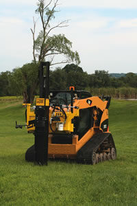 KIWI Self-Contained Skid-Steer Post Driver