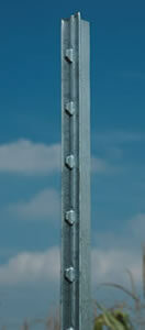Galvanized HD T Post 8' with Plate